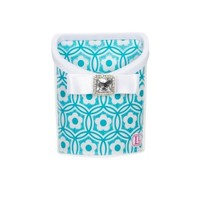 Lockerlookz Aqua Flower Print Locker Bin