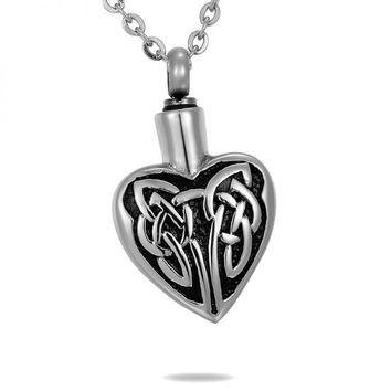 Celtic Knot Heart Cremation Jewelry