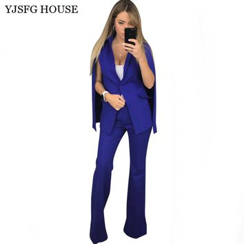 YJSFG HOUSE Elegant Ladies Business Blazer Suit Fashion Women Autumn Two Piece Set Blazers And Pants Office Work Suit White Red