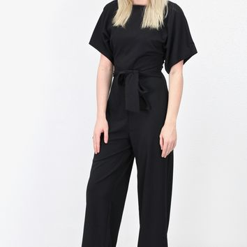 Peek-A-Boo Back Jumpsuit {Black}