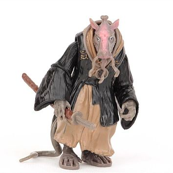 1Pcs 10cm Master Splinter Toy SPLINTER PVC Action Figure Toy Free Shipping