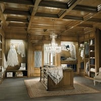 Sectional custom wooden walk-in wardrobe Taormina First Collection by Bizzotto | design Tiziano Bizzotto