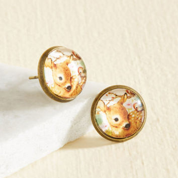 It's All Fawn and Games Earrings | Mod Retro Vintage Earrings | ModCloth.com