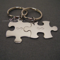 Infinity Keychains, Puzzle Piece Keychain for couples, Couples Keychains, Couples Gift, Valentines Gift, Valentines Day