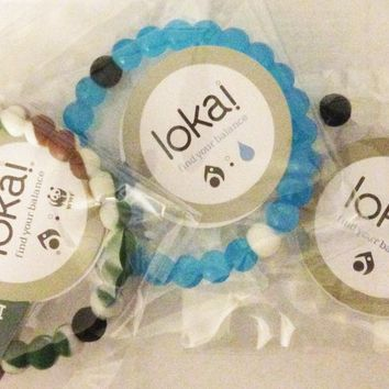 Lokai 3 Bracelet Set Classic Blue & Wild Camo (medium)