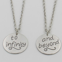 To Infinity and Beyond BFF/Couples necklaces