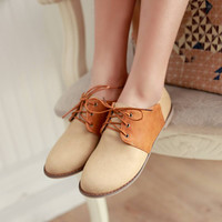 Handmade Lace-up Casual Closed Flats
