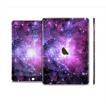 The Violet Glowing Nebula Skin Set for the Apple iPad Pro