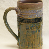 Stoneware southwest Shaman 20oz coffee mug 20C098