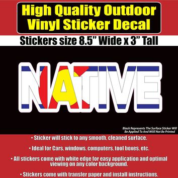 Colorado Native Flag Vinyl Car Window Laptop Bumper Sticker decal
