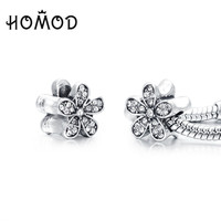 HOMOD 1PCS 9 Designs Flower Floating Beads&Charms fit Pandora Charm Bracelets for Women Jewelry