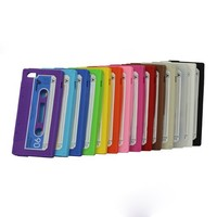 Cassette Tape Design Silicone Soft Case  for iPhone 5