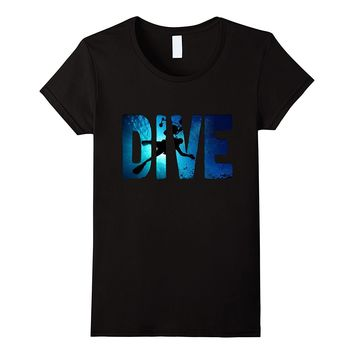 Scuba Diving: Divers Shadow Deep Swim t-shirt blue & black
