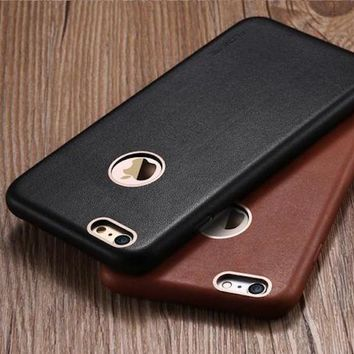 FLOVEME Genuine Leather Case For iPhone