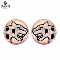 DAN'S  Colors Real Austrian crystals Stud earrings for women    Earrings s New Sale Hot  Round 120630