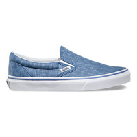 Denim Chevron Slip-On | Shop Classic Shoes at Vans