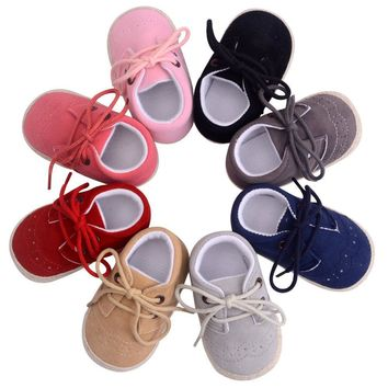 First Walker Baby Shoes Nubuck Leather Moccasins Soft Footwear Shoes For Baby Girls Ki