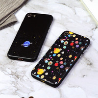 Space Pattern Clear iPhone Cases Matte Silicone Phonecases iPhone 6 6S Plus 7 7 Plus [11208626703]