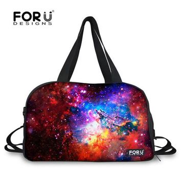 Sports gym bag FORUDESIGNS Sky Galaxy Waterproof Canvas  Ultralight Foldable Outdoor Gym Bag Yoga Travel Duffle Shoulder Tote Bags KO_5_1