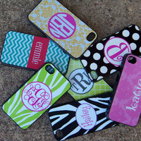 Personalized Monogrammed Iphone 4/4S Case - Cloverleaf Pattern