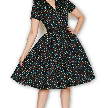 Drive In Dress in Wonder Stars print Small Only (Just a FEW left!)
