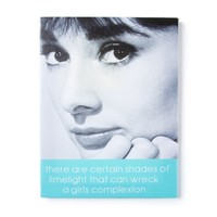 Audrey Hepburn Certain Shades of Limelight Wall Canvas | Icing