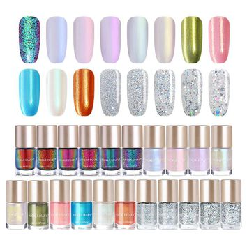 NICOLE DIARY 9ml Nail Polish Chameleon Metallic Jelly Holographic Polish Shiny Flakies Sequins Manicure Nail Art Lacquer Varnish