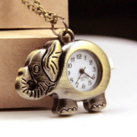 Vintage Elephant Style Pocket Watch