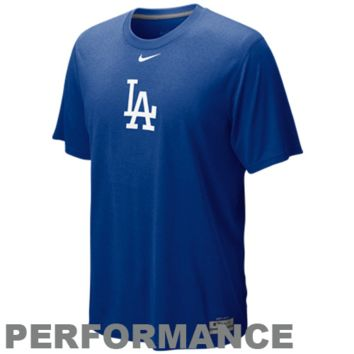 Nike L.A. Dodgers Royal Blue Team Issue Legend Logo Performance T-shirt