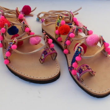 Kids Boho Sandals/Leather Gladiator Sandals/Womens gladiator/Sandals/Lace up sandals/Boho /Hippie/
