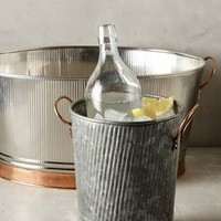 Hammered Ridge Ice Bucket by Anthropologie Copper
