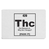 420 Element THC Funny Stoner Placemat by TooLoud Set of 4 Placemats