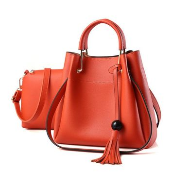 Fashionable shoulder casual totes solid Composite bag