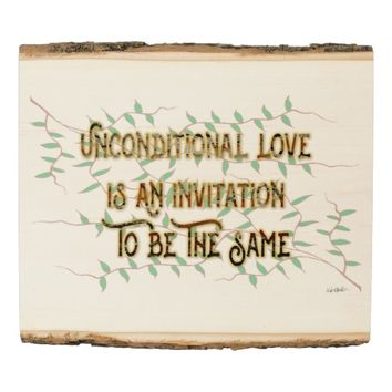 Invitation Quote by Kat Worth Wood Panel