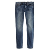 J.Crew Womens Toothpick Japanese Selvedge Jean In Hulton Wash