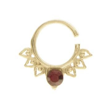Garnet Jewel Aurora Ring