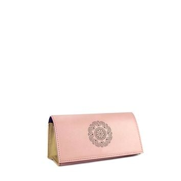 Looking Good Leather Sunglasses Case-Rose