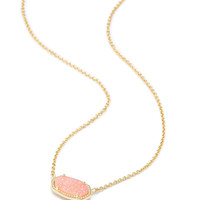 Kendra Scott Elisa Pendant Necklace In Light Pink Drusy