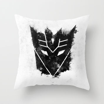 Decepticon Black Throw Pillow by d.bjorn