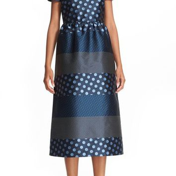 RED Valentino Mixed Dot Midi Dress | Nordstrom
