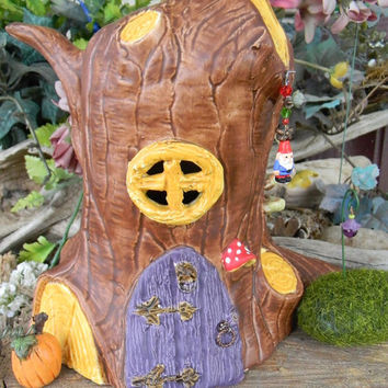 Gnome & Fairy House Tree stump Tree Stump Toad House - A Fairy Dream Home-