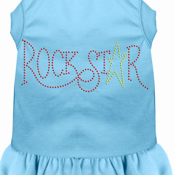 Rhinestone RockStar Dress Baby Blue XXL (18)