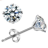 925 Sterling Silver Classic Gem Stud Earrings