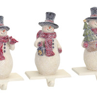 Jolly Holidays Collection Snowman Stocking Holder (Set of 3)