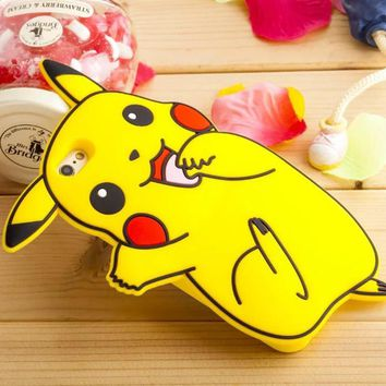 For Coque iPhone 6 Case Silicone 3D Cute Pok mon Case iPhone 6 Cover Silicon s Case For Fundas iPhone 6 6S Plus 5 5S SEKawaii Pokemon go  AT_89_9