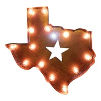 State Shape Symbol Marquee Sign Light
