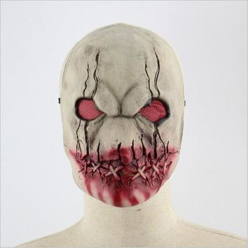 Scary Latex Halloween Mask Blood Mouth Zombie Cosplay Full Face Horror Masquerade Adult Funny Ghost Mask Party Props Supplies