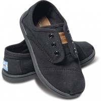 Solid Black Canvas Tiny Cordones