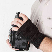 Mens Fingerless Gloves Black Mens Gloves Knit Gloves Mens Accessories Mens Hand Warmers Mens Arm Warmers Mens Fingerless Mittens