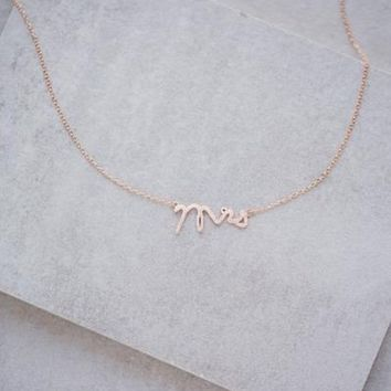 Mrs Rose Gold Dainty Necklace